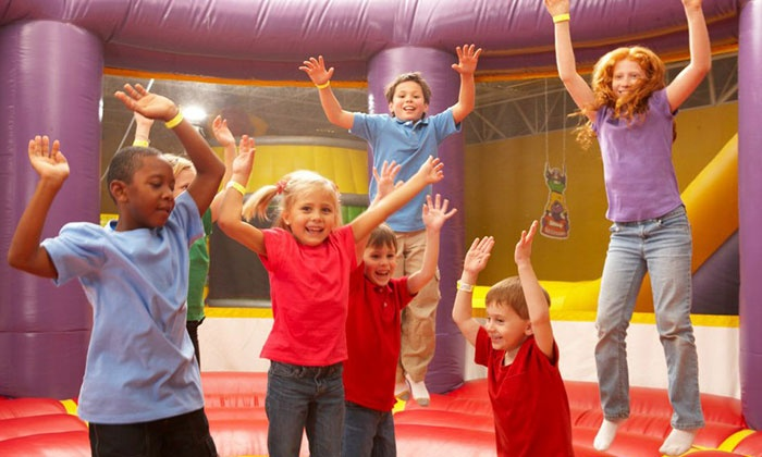 Monkey Joe's - Johns Creek: 2 or 4 Groupons, Each Good for One Visit, or a Birthday Party for Up to 24 Kids at Monkey Joe's (Up to 37% Off)