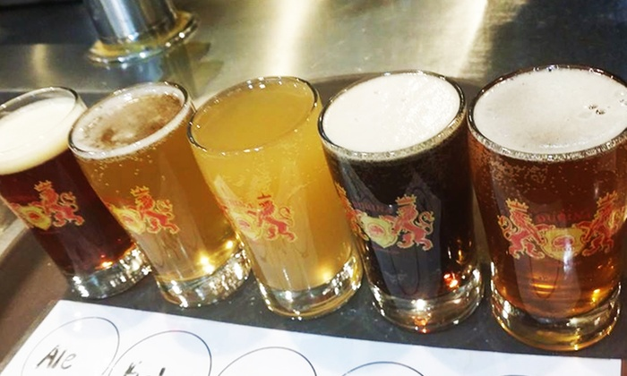 Dubina Brewing Co. - Glendale: Beer Flights and Food for Two or Four at Dubina Brewing Co. (Up to 38% Off)
