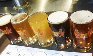 Dubina Brewing Co.: Beer Flights and Food for Two or Four at Dubina Brewing Co. (Up to 36% Off)
