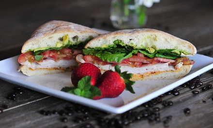 Coffee, Sandwiches, Salads, and Crepes at Queen Bean Caffe (Up to 46% Off). Two Options Available.