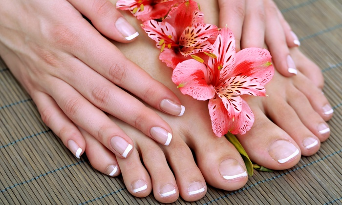 Forever Young Skin & Hair Spa - Olympia Heights: One or Two Shellac Manicures with Pedicures at Forever Young Skin & Hair Spa (Up to 55% Off)