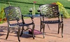 Set of 2 Outdoor Adjoining Chairs with Table: Set of 2 Outdoor Adjoining Chairs with Table. Free Returns.