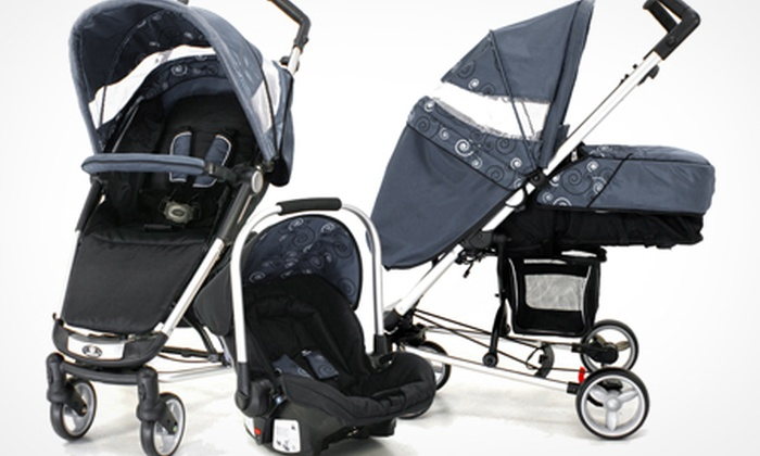 Groupon Goods Global GmbH: Petite Star Zia Evolve Travel System with Car Seat and Accessories for £169.99 (43% Off)
