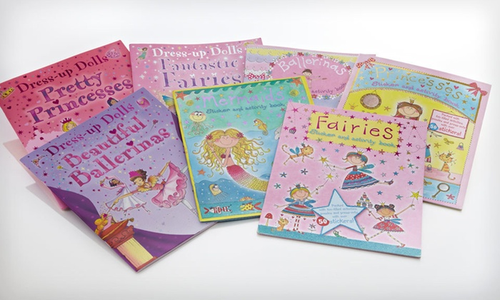 Seven-Book Girls' Activity Set: $16 for a Seven-Book Girls' Activity and Sticker Set ($62.65 List Price). Free Shipping.