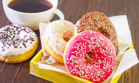 Café o batido con dos donuts o berlinas por persona para uno o dos desde 2,75 € en el centro