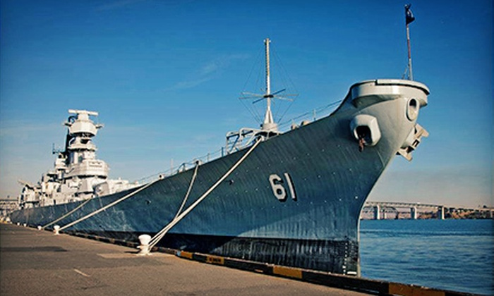 """Battleship Iowa - LA Waterfront / San Pedro: Self-Guided Tour for Two or Four on the USS """"Iowa"""" (Up to 33% Off)"""
