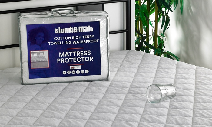 Quilted Cotton Rich Waterproof Mattress Protector for £19.99
