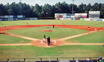 Two or Four Box Seats to Fayetteville SwampDogs Sunday–Thursday Game at J.P. Riddle Stadium (Half Off)