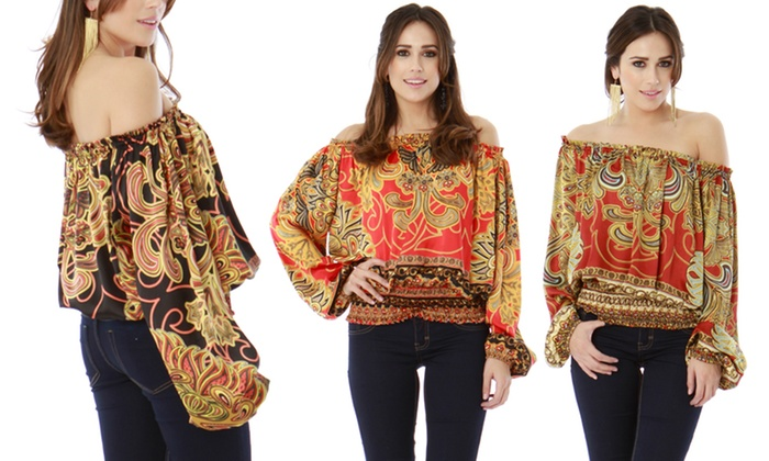 Classique Long-Sleeved Peasant Blouses: Classique Long-Sleeved Peasant Blouses. Multiple Colors Available. Free Shipping and Returns.