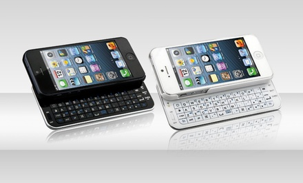 Naztech iPhone 5/5s Bluetooth Slide Keyboard in Black or White. Free Returns.