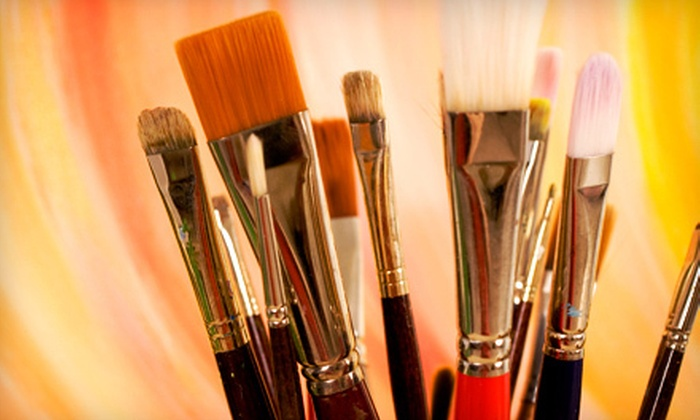 Art School # 99 - North Allston: One or Three Painting Classes, or Sunday Workshop for Up to Six Students at Art School # 99 (Up to 58% Off)