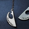 """Star Wars Rebel Insignia """"I Love You, I Know"""" Couples Necklace"""