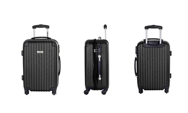 set de 3 valises chariot 4 roues groupon shopping. Black Bedroom Furniture Sets. Home Design Ideas