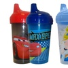 2 Disney Cars or Princess Spill Proof Sipper Cups