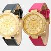 Women's Leather Dual-Stone Watch