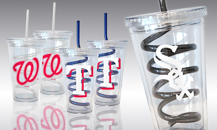 Set of Two MLB Swirl-Straw Tumblers: $19.99 for a Set of Two MLB Swirl-Straw Tumblers ($30 List Price). 17 Teams Available. Free Shipping and Free Returns.