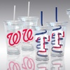 $19.99 for Two MLB Swirl-Straw Tumblers