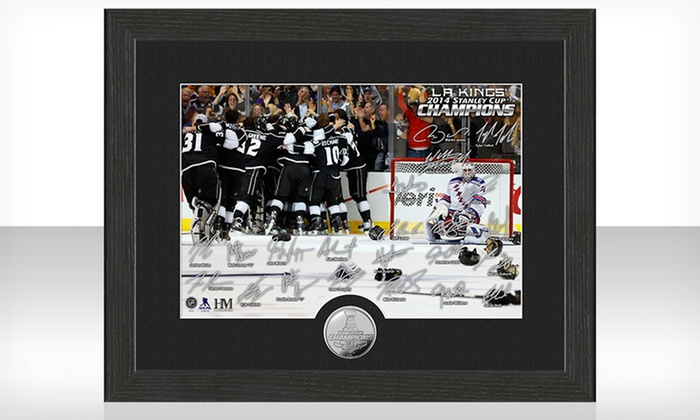 L.A. Kings 2014 Stanley Cup Championss Celebration Minted-Coin Photo: Los Angeles Kings 2014 Stanley Cup Champions Celebration Minted-Coin Photo