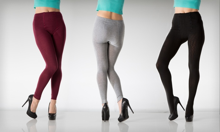 Two-Pack of Sweater-Knit Leggings: $17 for a Two-Pack of Sweater-Knit Leggings ($36 List Price). Multiple Options Available. Free Shipping and Returns.