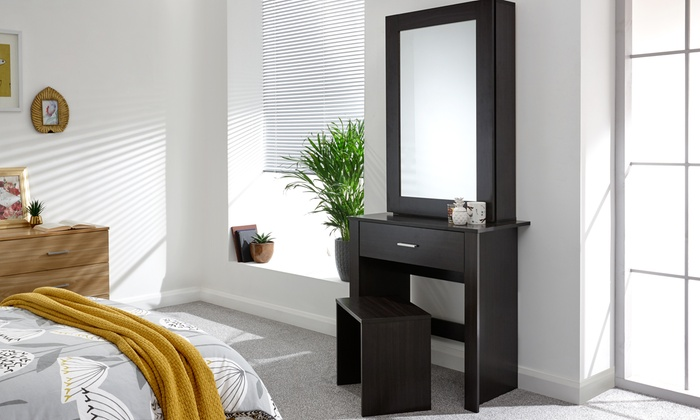 Hobson Mirrored Dressing Table and Stool