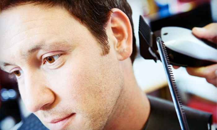 Spoiled Spa and Salon - Orchards Area: $25 for a Men's Haircut and Hot-Towel Shave at Spoiled Spa and Salon ($50 Value)