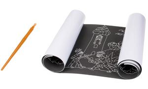 Rouleau de papier à gratter et dessiner