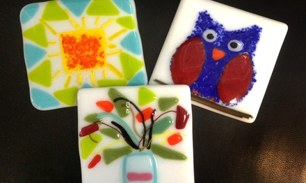 Taste of Fusing Class, Experience Fusing Class, Both, or Stained-Glass Class at McMow Art Glass (Up to 50% Off)