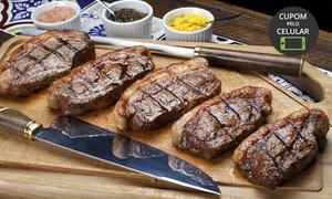 Restaurante Tchê Picanhas: Buffet livre com carnes grelhada na chapa + pizza no Restaurante Tchê Picanhas – Armação