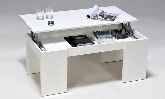 design de qualité 773ee ef6e0 Table basse - plateau relevable | Groupon Shopping