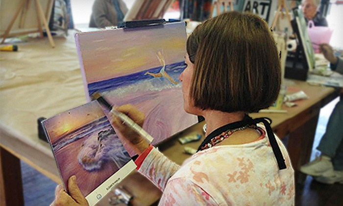 Studio E - Miller Place: Ceramics or Painting Classes, or Kids' Mixed-Media Classes at Studio E (Up to 56% Off). Six Options Available.