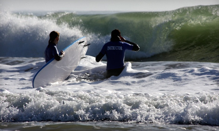 Sea, Surf & Fun - El Granada: $31.90 for a Two-Hour Surfing Lesson with a Wetsuit Rental from Sea, Surf & Fun ($60 Value)