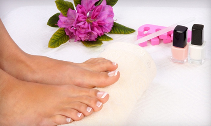 Cheshire Nails - Grand Rapids: Deluxe Pedicure for One or Two at Cheshire Nails (Up to 52% Off)