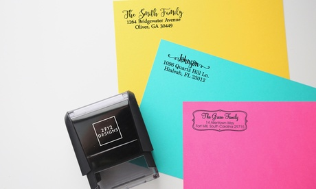 Simple, Rectangle, or Square Self-Inking Stamps from 2712 Designs (Up to 89% Off). Five Options Available.