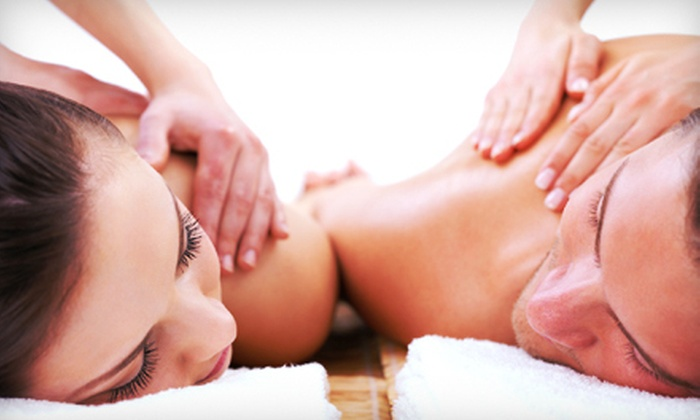 Bloom at Lotus Spa & Salon - Canton: $69 for a Hour and a Half Couples Massage Package with Chocolates and Mimosas at Bloom at Lotus Spa & Salon ($140 Value)