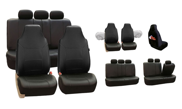 deluxe leatherette seat covers groupon goods. Black Bedroom Furniture Sets. Home Design Ideas