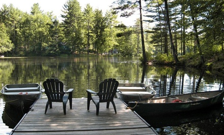 Groupon Deal: 2-Night Stay in a One- or Two-Bedroom Cottage at Hideaway Waterfront Cottages in Luzerne, NY