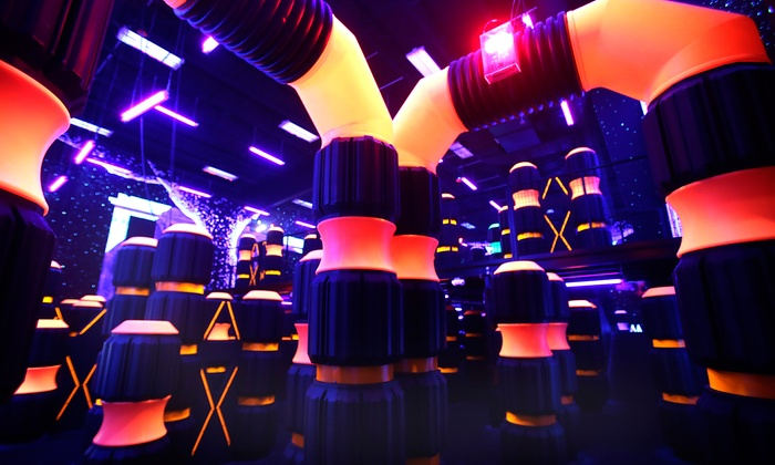 Badger Sports Park - Appleton: Laser Tag Sessions, or Kids' Outing with Inflatable Pass, Mini-Bowling, and Maze at Badger Sports Park (Up to 55% Off)