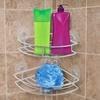 Set of 2 Chrome Corner Shower Caddies