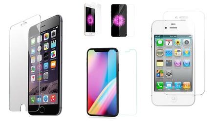 1 o 2 pellicole vetro temperato per iPhone 4/4S, 5/5S/5C/SE, 6/6S, 7/8, 6 Plus/6S Plus, 7 Plus/8 Plus, X