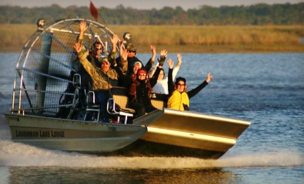75-Minute Airboat Tour for Two  - Loughman Lake Lodge in Mims