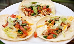 Taco4u Mexican Food: 6 or 12 Regular Tacos and 2 or 4 Fountain Drinks at Taco4u Mexican Food (Up to 36% Off)