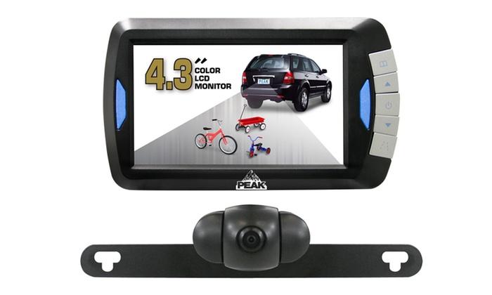"""Car Backup Camera Kit with 4.3"""" Monitor: Car Backup Camera Kit with 4.3"""" Monitor."""