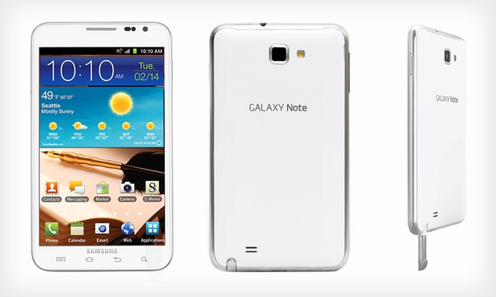 Samsung Galaxy Note Unlocked Android Smartphone: $349.99 for a Samsung Galaxy Note N7000 Unlocked Android Smartphone ($425 List Price). Free Shipping and Returns.