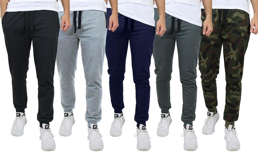 3-Pack Men's Assorted Skinny Fit Jogger Sweatpants $18.99
