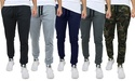 4-Pack Men's Slim Fit French Terry Joggers with Zipper Pockets