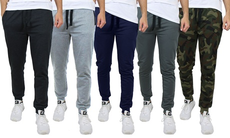4-Pack Men's Slim Fit French Terry Joggers With Zipper Pockets (S-2XL)