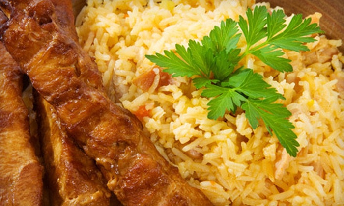 Arabi Cuisine - The Embarcadero: Middle Eastern–Mediterranean Meal with Sides and Drinks for Two or Four at Arabi Cuisine (Up to 46% Off)