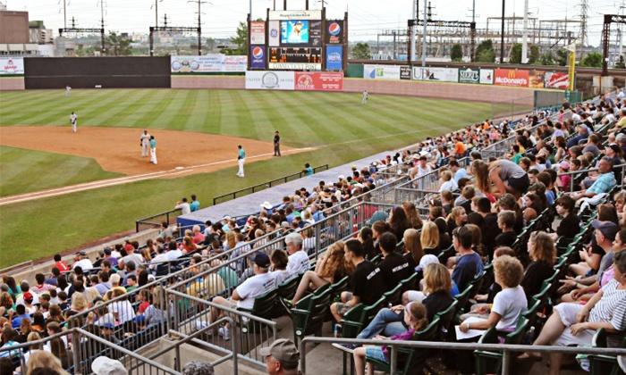 Bridgeport Bluefish - Ballpark at Harbor Yard: $90 for a 10-Game Pack for 2015 Regular-Season Bridgeport Bluefish Games at The Ballpark at Harbor Yard (36% Off)