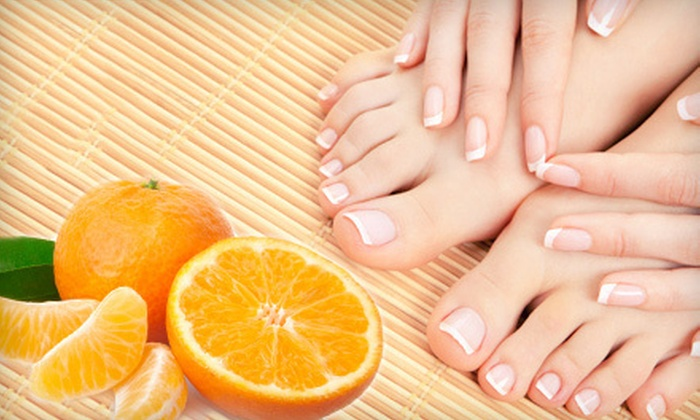 Angel Nails - Northwest Virginia Beach: $29 for Orange Pedicure with Paraffin Dip and Hot Stones at Angel Nails ($60 Value)