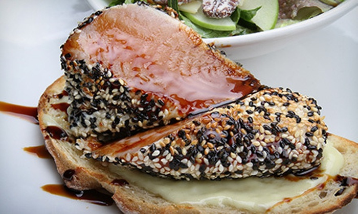 Sauce Restaurant and Lounge - Victoria: $15 for $30 Worth of Contemporary Cuisine at Sauce Restaurant and Lounge